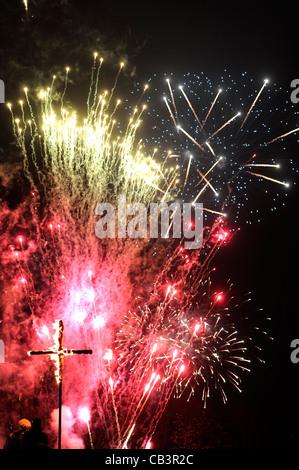 Lewes Bonfire night celebrations - Stock Photo