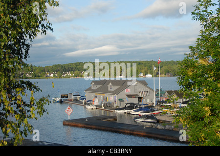 Port Sandfield harbour in the cottage country of Muskoka in Ontario, Canada - Stock Photo