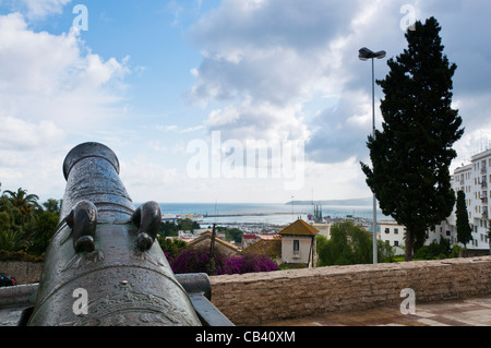 View of Tangier from the Terrasse des Paresseux ,Tangier, Morocco, North Africa - Stock Photo