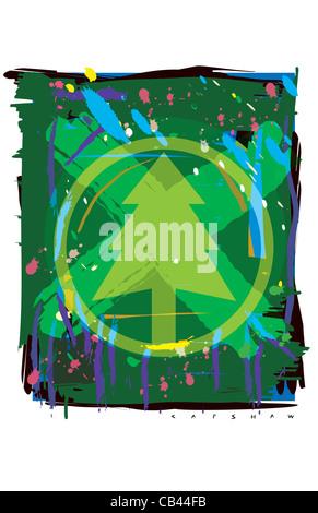 Be Green, Stan Capshaw, digital illustration - Stock Photo
