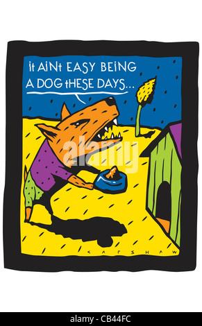 Doghouse, Stan Capshaw, digital illustration - Stock Photo