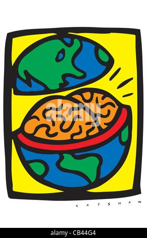 Smart World, Stan Capshaw, digital illustration - Stock Photo