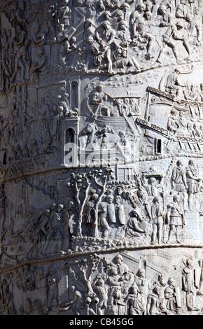 Detail of Trajans Column - Stock Photo