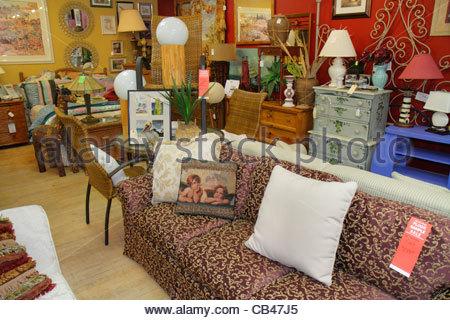 Boca Raton Florida Mizner Boulevard Past Perfect Consignment Shop Store  Shopping Antiques For Sale   Stock