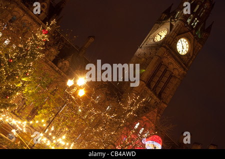 Christmas market, Albert Square, Manchester 2011. - Stock Photo
