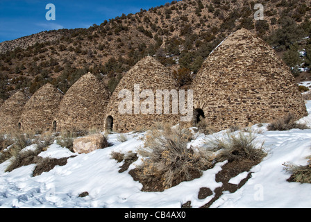 Charcoal Kilns Death Valley National Park California USA - Stock Photo