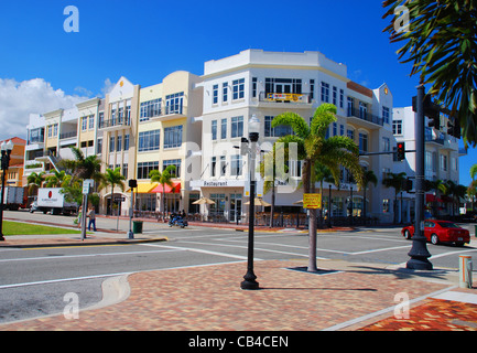 Downtown Punta Gorda, FL. USA - Stock Photo