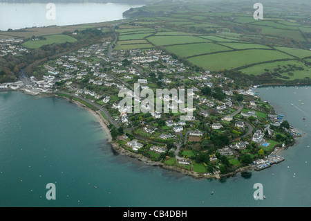 The little village of St Mawes on the banks of the Percuil river at the tip of the Roseland Peninsular in the county - Stock Photo