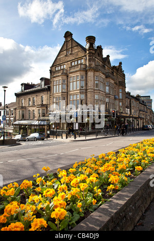 Betty's Cafe and Tea Rooms, Parliament Street, Harrogate Town Centre in Spring, North Yorkshire - Stock Photo