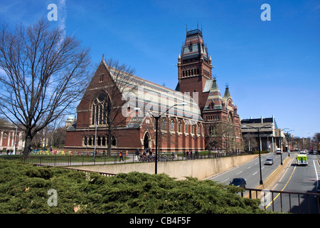 Memorial hall of Harvard university in Cambridge, Massachusetts - Stock Photo