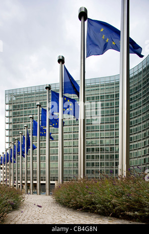 The Berlaymont, headquarters of the European Commission at Brussels, Belgium - Stock Photo