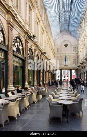 Queen's Gallery / Galerie de la Reine, part of the Galeries Royales Saint-Hubert in Brussels, Belgium - Stock Photo