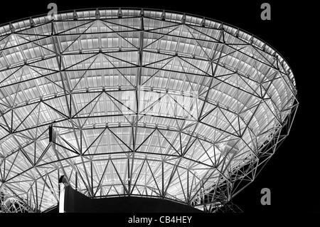 Negative Image of a huge Parabolic Antenna - Stock Photo