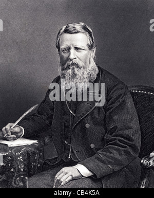 Sir Stafford Henry Northcote, 1st Earl of Iddesleigh GCB, PC (1818 – 1887) was a British Conservative politician. - Stock Photo