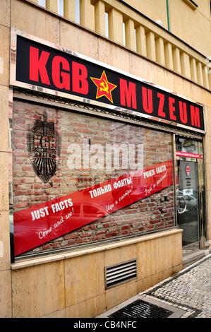 Prague, Czech Republic. KGB museum at Vlašska 13, Malá Strana - Stock Photo