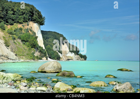 chalk cliffs of island rügen - Stock Photo