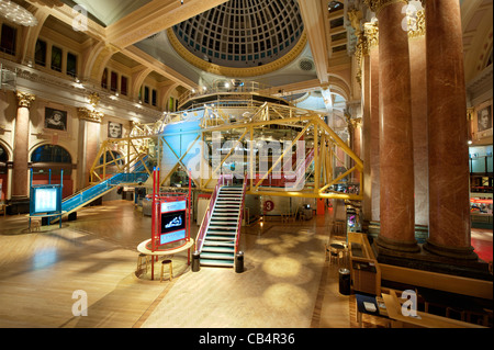 The inside of the Royal Exchange Theatre performance venue in Manchester. - Stock Photo