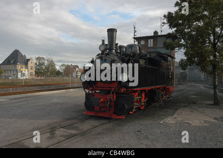 Steam engine, 99 5901 built in 1897 is the oldest engine operating on the 1000mm Harz railway in Germany - Stock Photo