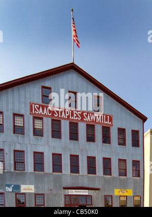 Isaac Staples Sawmill is a shopping mall located in the historic sawmill building in Stillwater, Minnesota - Stock Photo