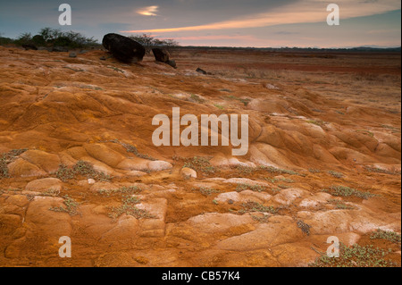 Desert landscape in Sarigua national park, Herrera province, Republic of Panama. - Stock Photo
