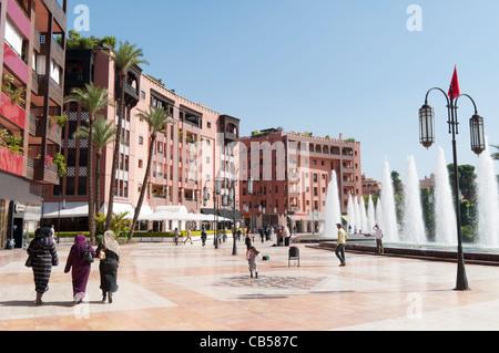 Modern shopping centre in Ville Nouvelle,Marrakech,Morocco - Stock Photo