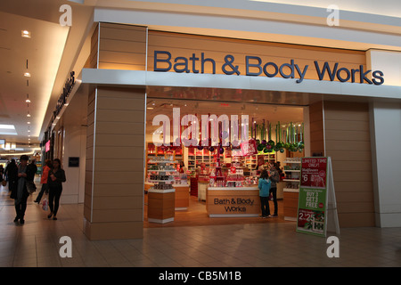 Bath And Body Works Store Christmas Decoration In Fairview Mall Stock Photo