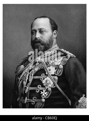 Edward VII 1841 1910 King British monarch House Saxe Coburg Gotha regal royal imperial sovereign ruler monarch potentate - Stock Photo