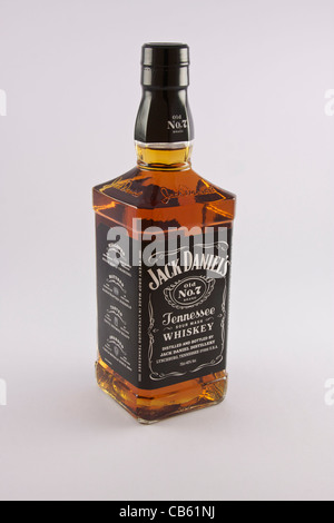 Bottle of Jack Daniels Old No.7 Tennessee Whiskey - Stock Photo