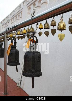 Buddhist bells in the temple - Stock Photo