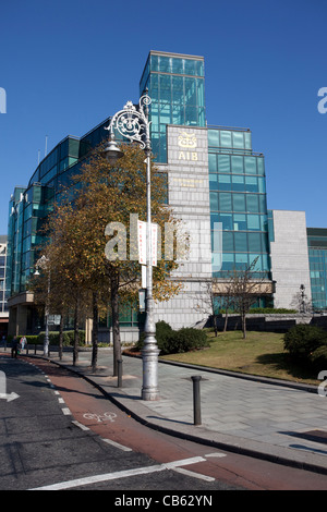 AIB Allied Irish Bank International Centre Headquarters, AIB Capital Markets at Custom House Quay, Dublin, Ireland. - Stock Photo