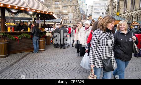 Manchester Christmas Market, Albert Square, Manchester - Stock Photo