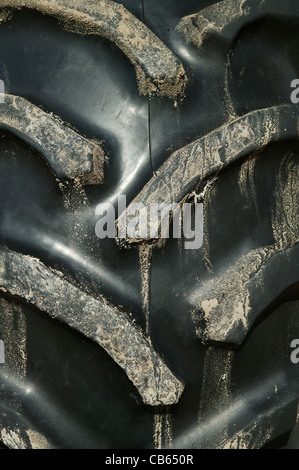 Tractor tyre tread abstract - Stock Photo