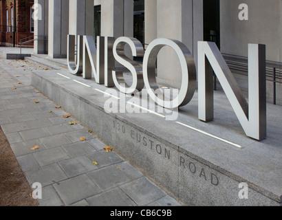 Unison union building at 130 Euston Road, London - Stock Photo