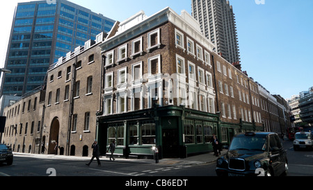chiswell street dining rooms, london ec1, uk stock photo, royalty