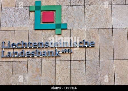 Headquarters of the Liechtensteinische Landesbank in Vaduz, Principality of Liechtenstein - Stock Photo