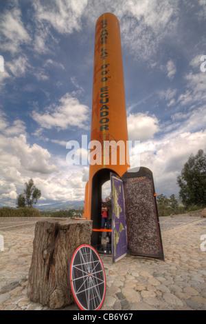 equator ecuador amazon nature vibrant sign - Stock Photo