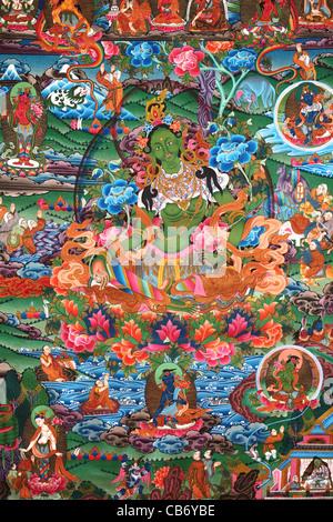 Green Tara thangka from Nepal