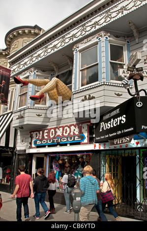 Piemont Boutique San Francisco Haight Street Ashbury California USA United States - Stock Photo