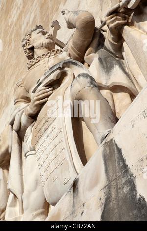 Sculpture of Portugal's national poet Luis Vaz de Camoes. - Stock Photo