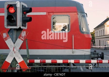 Regional passenger train (RB 48) service from Wuppertal to Cologne passing through Leichlingen, Germany. - Stock Photo