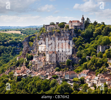 Rocamadour in the Lot region, France, Europe - Stock Photo