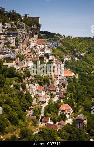 Rocamadour in the Valle de la Dordogne, Lot, France - Stock Photo