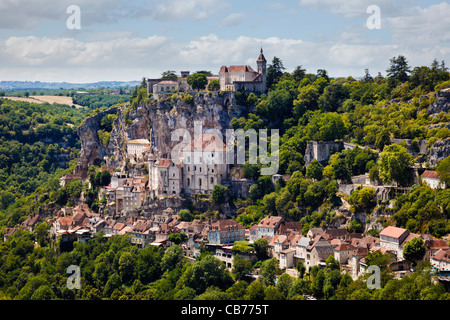 Rocamadour in the Lot region of France, Europe - Stock Photo