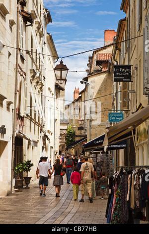 Perigueux street scene, Dordogne, Aquitaine, France - Stock Photo