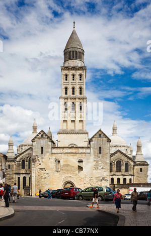 Perigueux St Front Cathedral and streets, Dordogne, France - Stock Photo