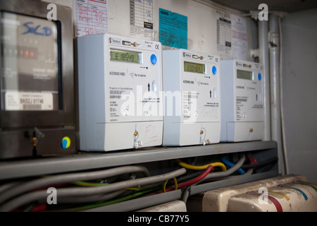 Houses in Multiple Occupation Electrical Supply and Distribution displaying amounts in debt - Stock Photo