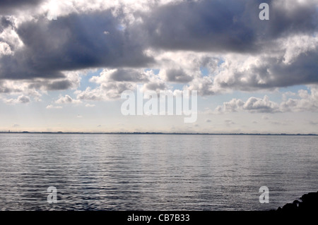 Clouds over the water - Stock Photo