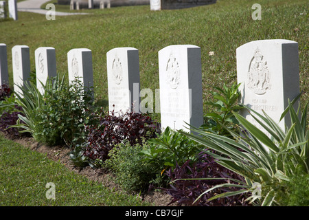war graves from the defence of hong kong during the second world war in stanley cemetery, hong kong, hksar, china - Stock Photo