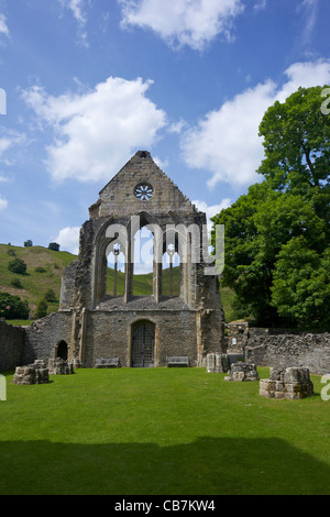 Valle Crucis ruined Cistercian abbey in Llantysilio, near Llangollen, Wales, Cymru, UK, United Kingdom, - Stock Photo