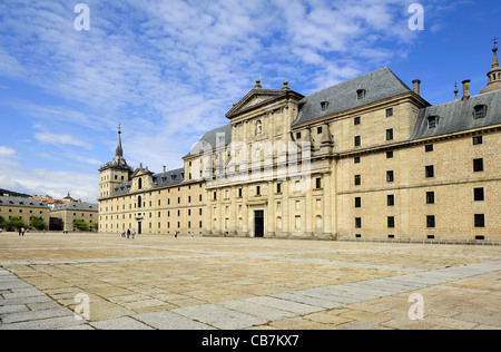 monastery and royal residence San Lorenzo de El Escorial (Spain) - Stock Photo